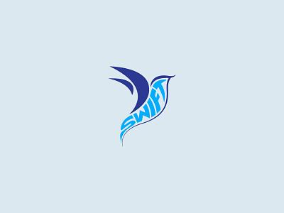 Swift concept vector minimal clean flatdesign flying bird flying speed bird logo symbol logotype hummingbird swift logo