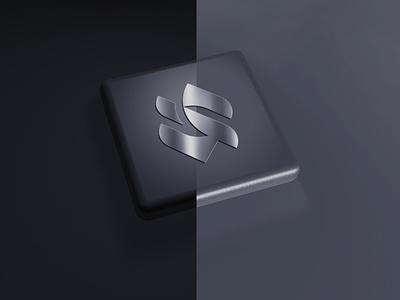 Luxury Logo Mockup technology mobile app ux ui glass psd mockup 3d luxury logomockup mock up mock-up mockups mockup
