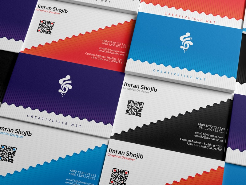 Business Card Design Concept simple cool business card creative clean concept branding modern vector free design
