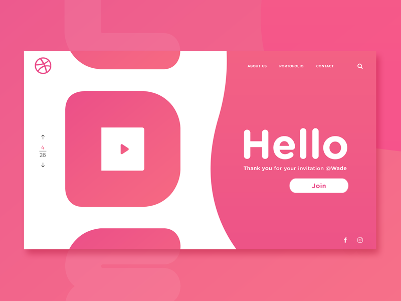 Hello Dribbble! website debut shot dribbblers hello