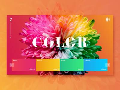 Colorful Page gradient webdesigner interface ui flower minimalist color colorful website web landing page