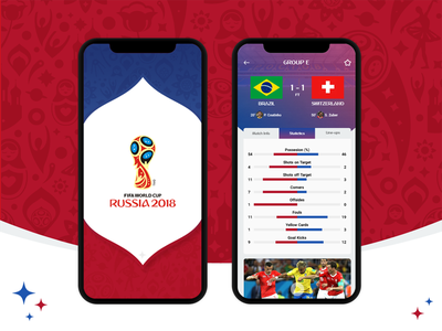 FIFA World Cup Russia 2018 interface ui apps app statistics result match football worldcup fifa