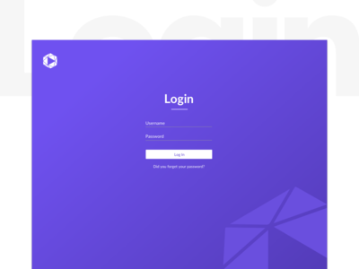 Full Page Purple Login