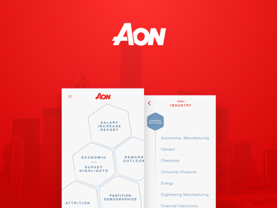Aon- Rebound interface android ios carreer grappus aon red dashboard ux ui app mobile
