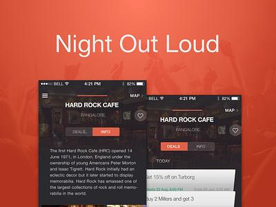 Nol- Night Out Loud design material flat studio app gurgaon grappus nol ux ui