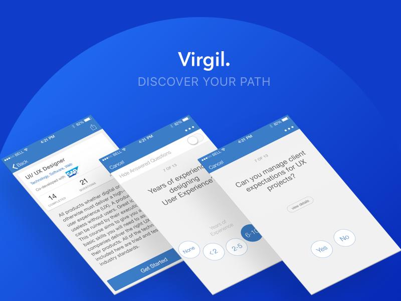 Virgil path discover career design material flat studio app grappus virgil ux ui