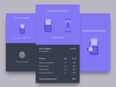 NFC Payment Method - Smart Pay design app vraj247 fingerprint card pay smart android ios nfc ux ui