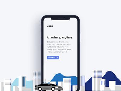 Uber Landing Page Concept style iphone x vraj247 uber ios ux ui