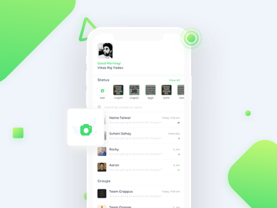 Whats App Redesign flat material design light dashboard chat whats app redesign phone x ios ux ui