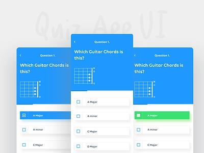 Quiz Maker UI 10 x iphone ios guitar chords maker quiz dashboard ux ui