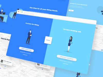 Hirsitic Landing Page Preview student recruiter minimal banglore vraj247 illustration portal hiring web ux ui