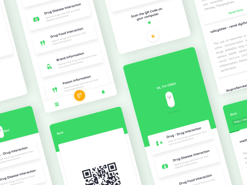Clinirex Checker - Coming Soon clibo dashboard information drug ui ux vraj247 iphone x android ios assistance voice ai healthcare