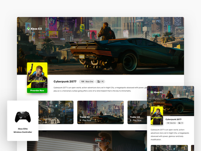 Cyberpunk 2077 - Webpage cyberpunk2077 e3 xbox responsive design web ui ux