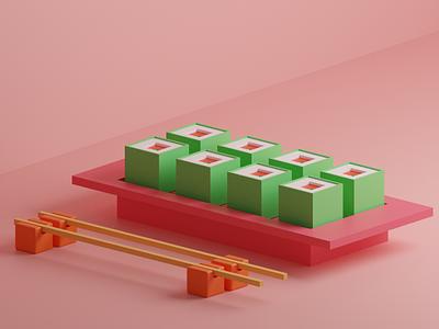 The Shushi Project - 3D 3dillustration ui design blender vraj247 rendering ui ux 3d art 3d