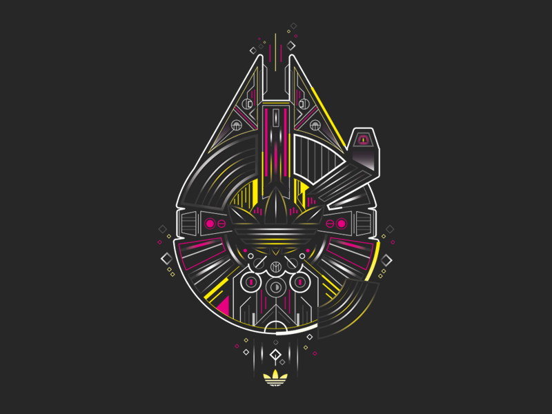 Adidas x Star Wars typography graphic design illustration vector iconography icon logotype brand design branding brand logo design logo