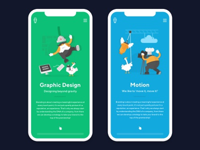 Peek at the Mobile View! 👀📱 mobile green blue camera computer motion duck fish logo website animation web design app fun vector ui ux illustration graphic design