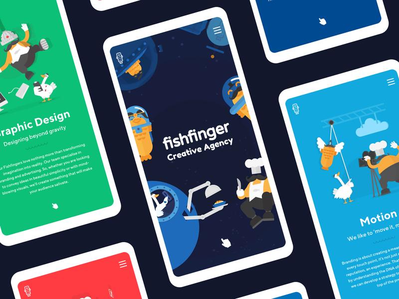 We got nominated on AWWWARDS! 😱🏆✨ spaghetti fishfinger fish logo portfolio website motion space astronauts fish animation web design illustration ux ui graphic design