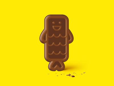 Fishfinger Freddy Chocolate hohoho chocolate bar chocolate logo design fun logo graphic design