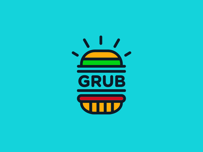 #InternationalDayOfHappiness 2d colour digital art design typography branding junk food food beef burger icon logotype logo design brand creative logo fun vector illustration graphic design