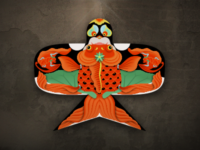 Chinese Kite illustrator chinese kite