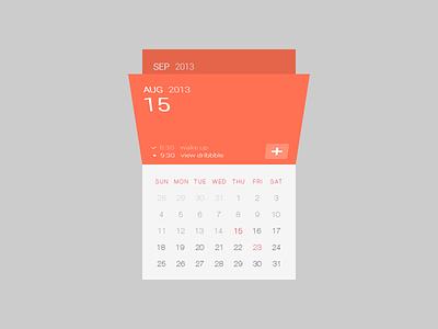 Calendar UI  ui calendar flat flip