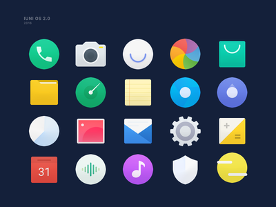 IUNI OS icons theme system phone music map icon iuni camera calendar browser android
