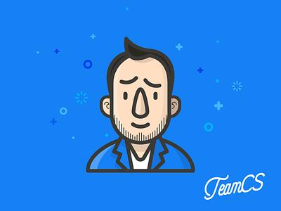Gino ♥️ potatoes corporate line illustration character boy flat studio creative teamcs polito gianni