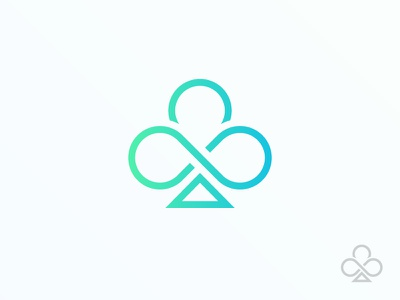 Infinite clover music band hipster triangle infite 10deder flat green line logo clover