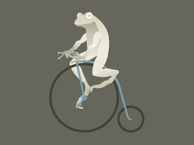 Frog on a Penny-farthing logo animal penny-farthing frog