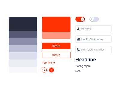 Styleguide for PushPartner components ui elements uikit elements interface styleguide webdesign uiux ui