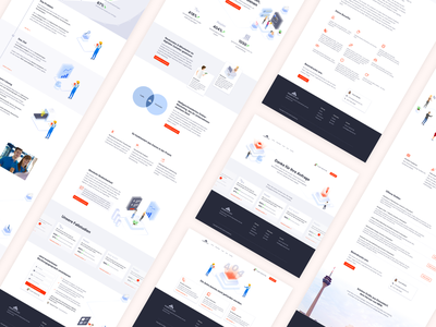 PushPartner Overview No. 2 marketing site marketing agency illustration isometric webdesign landingpage interface website ux ui