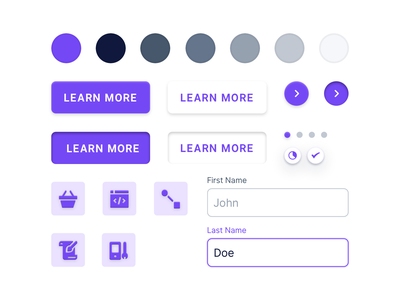 🖌 Firesqueak Styleguide color scheme colors violet design system styleguide interface ux ui