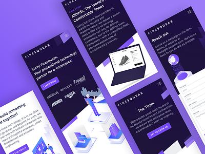📱Firesqueak Mobile Design isometric illustration illustration responsive webdesign app mobile ux ui