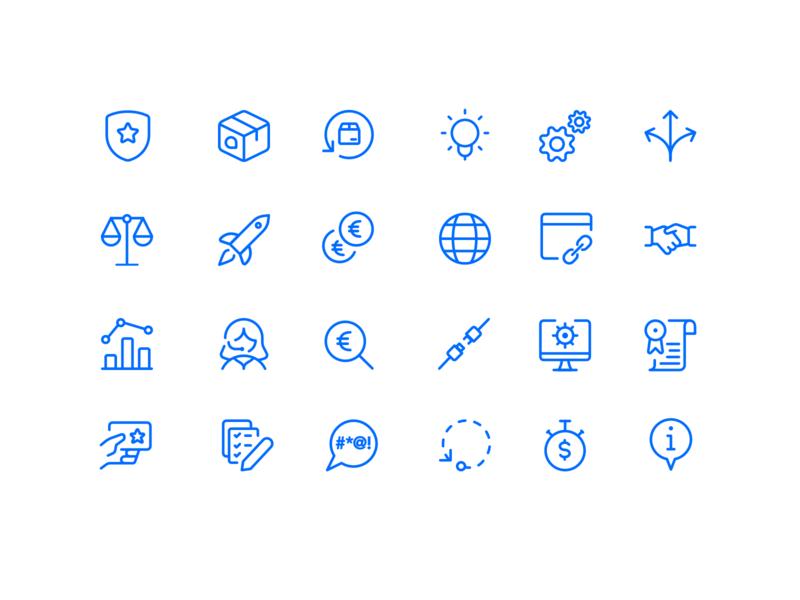 💙 Icon Set for Logistics Company logistic ux ui icons pack iconography icon set iconset icons icon