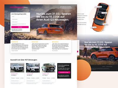 Car Dealer Landingpage / Autohaus Landingpage webdesigns marketing website landingpage car audi
