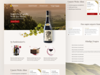 Landingpage for a wine online-shop / Wein Online-Shop Desktop website ux ui marketing landingpage webdesign