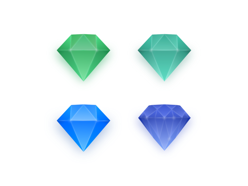 💎 Diamonds for Pricing Plans 3d diamond illustration icons set skeuomorphism icons website ux ui