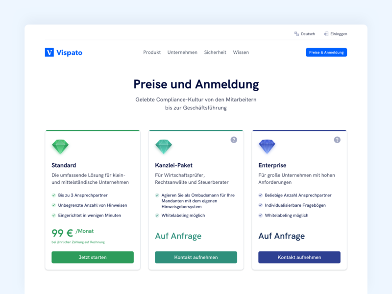 💎 Pricing Page price comparison pricing plans pricing page pricing data privacy compliance saas webdesign website ux ui