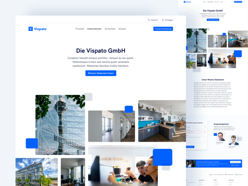 🏢 Company Page for Vispato compliance software as a service saas landingpagedesign website ux ui webdesign landingpage corpoarate page company page about page