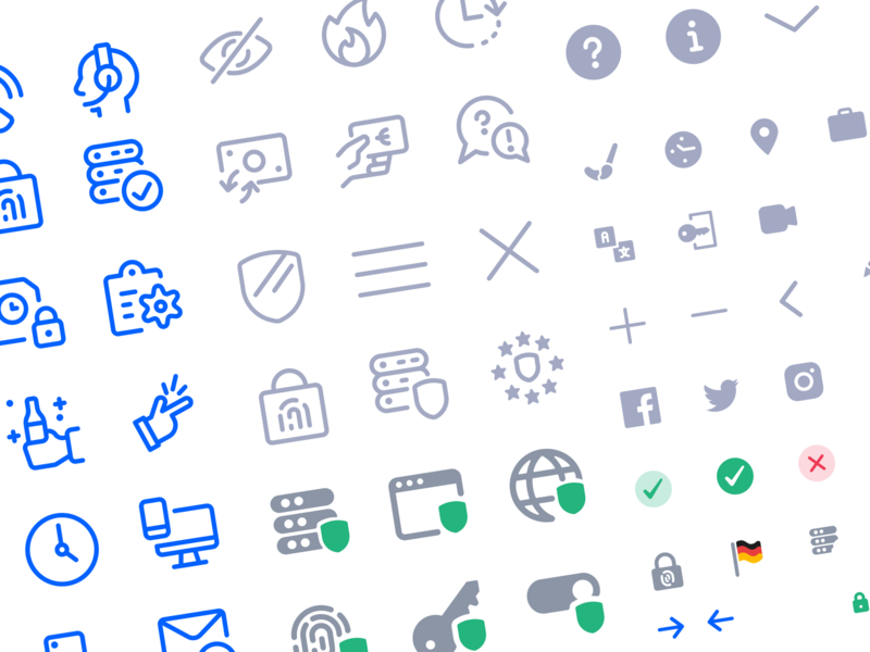 💫 Icon Set for Saas Company safety saas data privacy clean interface branding styleguide dual tone filled icon line icon iconography icon set icon pack icon
