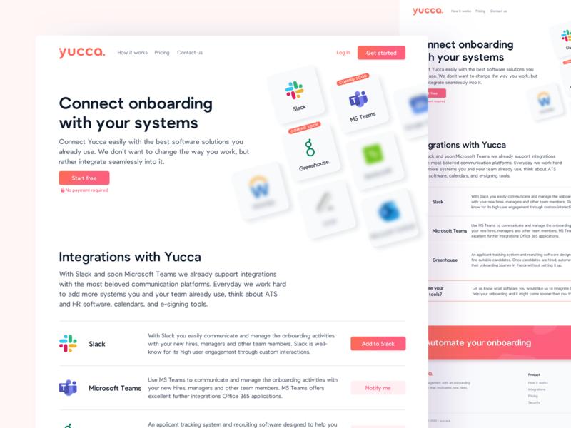 🔮 Integrations Page saas slack human resources hr landingpage webdesign website