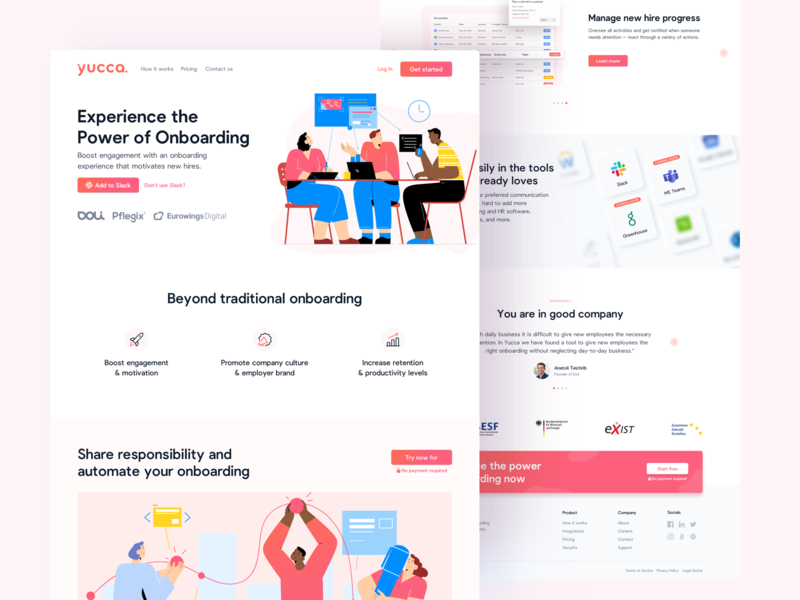 🧡❤️ Homepage Full View craftwork homepage landing human resources hr software as a service saas colorful illustration interface landingpage webdesign website ux ui