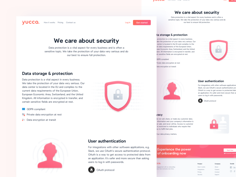 🔐 Security Page authentication encryption security saas illustration interface landingpage webdesign website ux ui