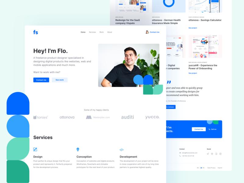 ⭐️ Portfolio Redesign whitespace clean illustration interface landingpage webdesign website ux ui