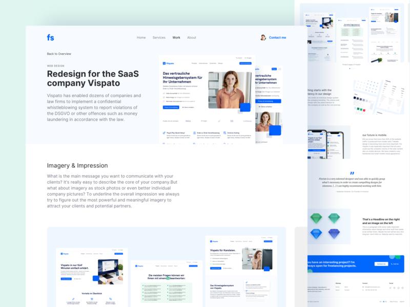 Portfolio - Project Page portfolio branding design interface landingpage webdesign website ux ui