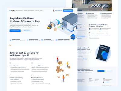 📦 Home Page for Logistics Company isometric blue branding logistics company illustration landingpage webdesign website ux ui