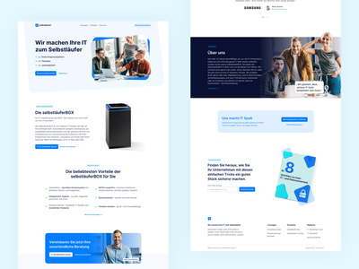 🏡 Home Page for Selbstläufer agency blue data it interface landingpage webdesign website ux ui