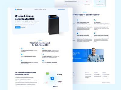 💎 Product Page for Selbstläufer logo logo design logodesign branding it agency whitespace clean landingpage webdesign website ux ui