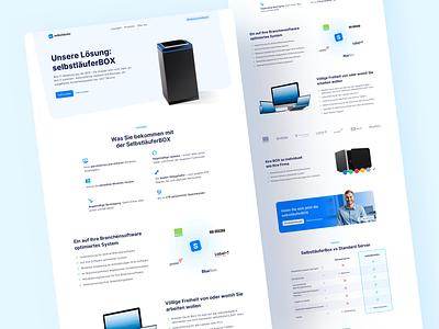💙 Product Page for Selbstläufer agency it branding logo clean landingpage webdesign website ux ui
