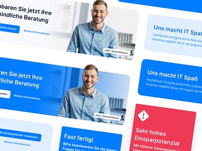 🧿 Call To Action Banners branding logo design clean interface landingpage webdesign website ux ui